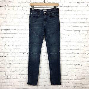 Bullhead Moto Stacked Skinny Dark Dirty Wash Jean
